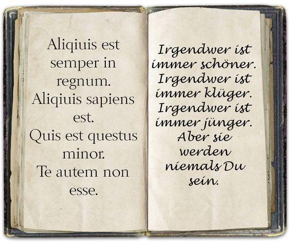 Spruch Latein Liebezitatetollesachen Pinterest