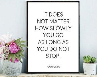 Don T Stop Zitat Von Konfuzius Digitaler Download Druckbare Inspirierende Angebot