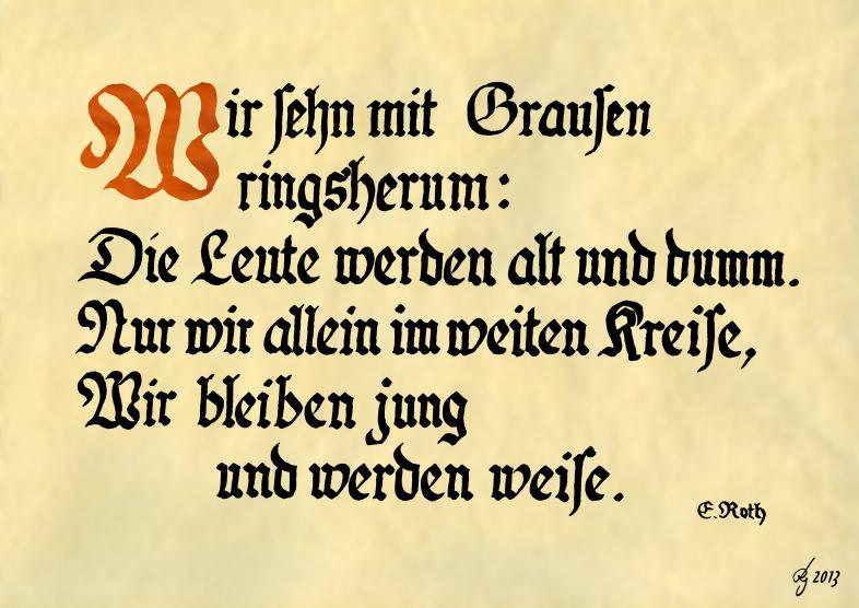 Eugen Roth Wir Sehn Mit Grausen Rings Herum