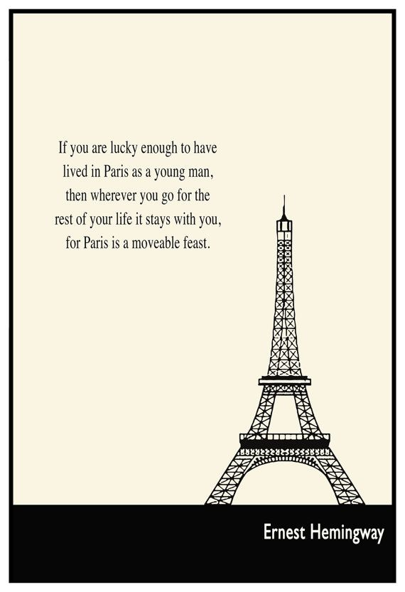 Paris By Lit Typographic Print Literary Art Illustration Print