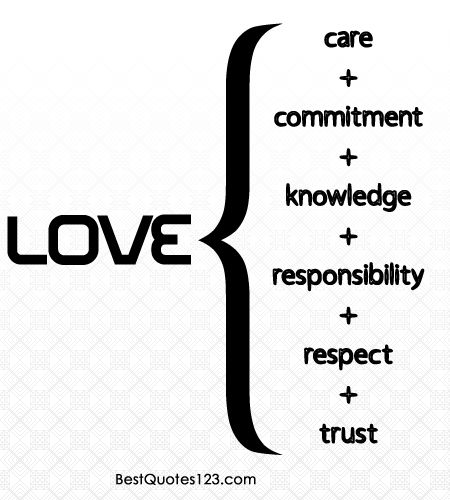 Love Is Combination Love Quotes Care Commitment Respect Trust