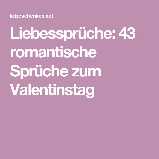 Liebesspruche  Romantische Spruche Zum Valentinstag