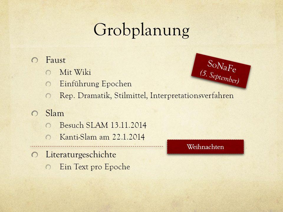 Grobplanung Faust Sonafe Slam Literaturgeschichte Mit Wiki