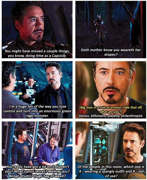 Ironman Funny Lines And Comebacks