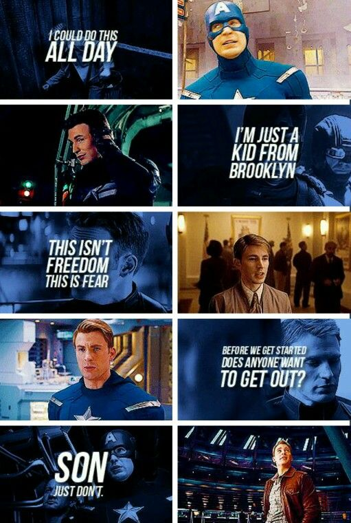 Captain America Quotes I Love Captain America Marvel Marvel Moviesmarvel