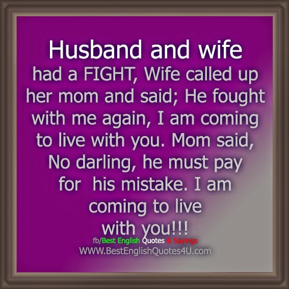 Husband And Wife Had A Fight Wifeed Up Her Mom And Said He Fought With