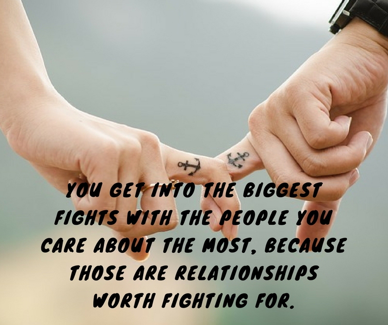 You Fight Because You Care