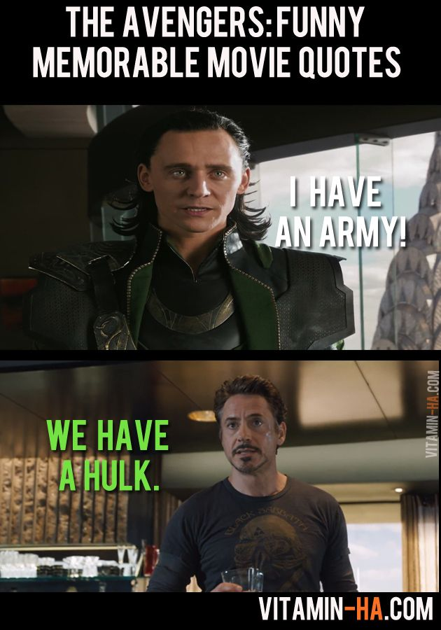The Avengers Movie Funny Memorable Quotes  Pics Vitamin Ha