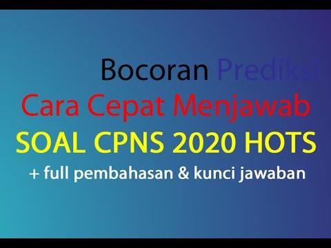 Full Pembahasan Soal Tiu Cpns 2020 Hots Bocoran Prediksi Dan Cara Cepat Menjawab Icpns