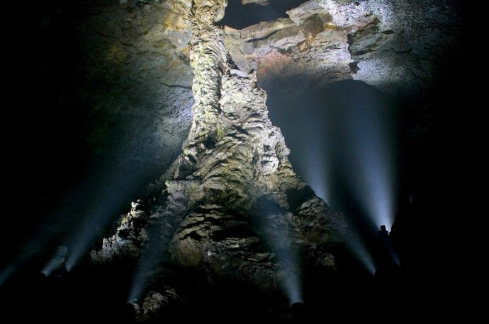The largest lava column in the world in the Manjanggul Cave