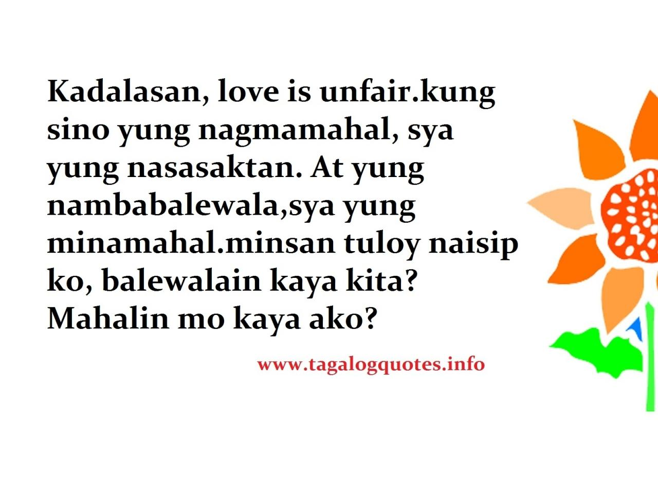 True Friend Quotes Tagalog Unfair Love Quotes Tagalog Unfair Love Quotes