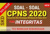 Contoh Soal Integritas Cpns Icpns