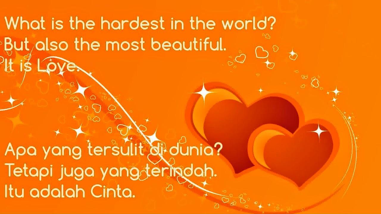 Kata Bijak Cinta Sejati Dalam Bahasa Inggris Dan Artinya ...